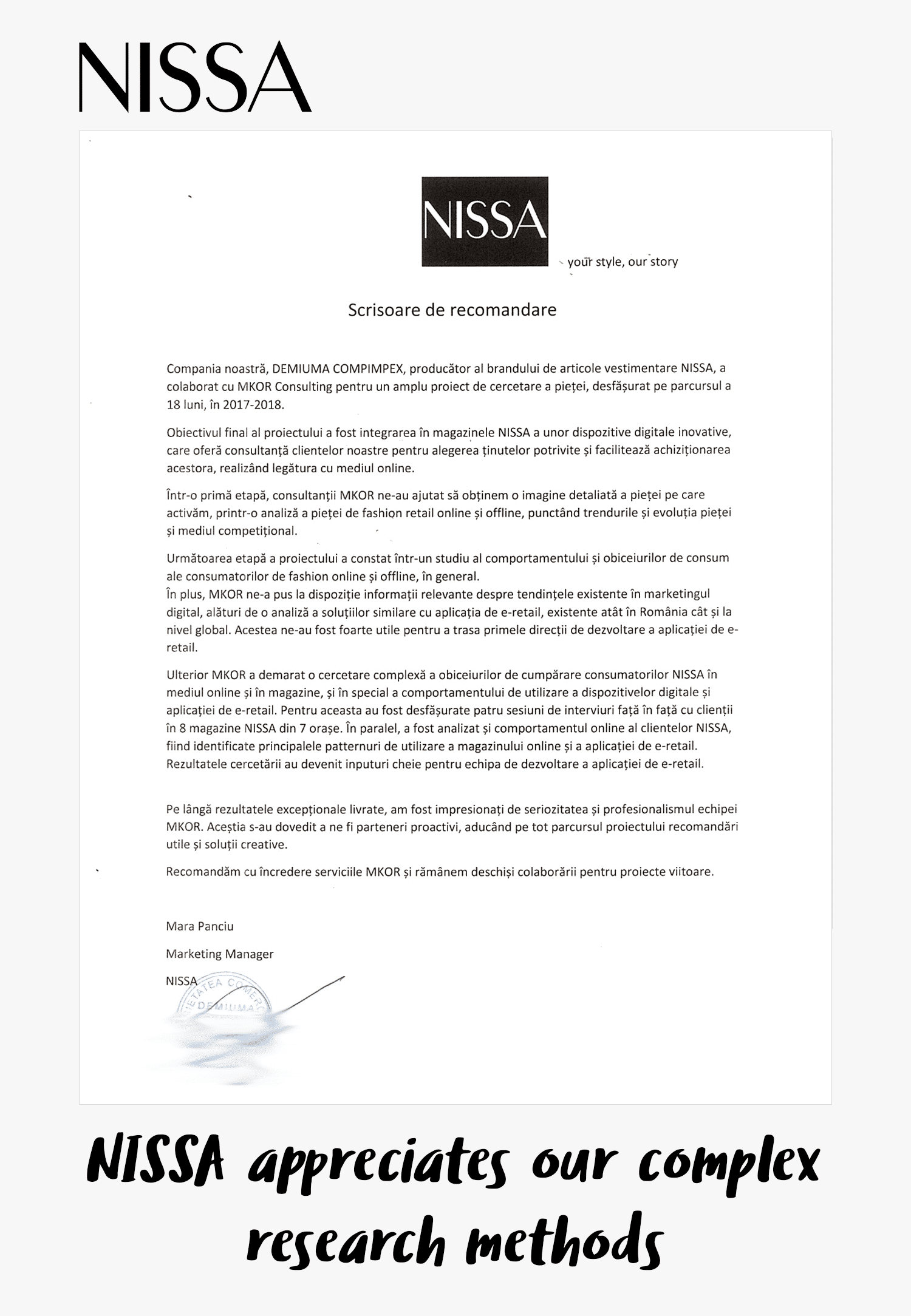 nissa fashion research testimonial